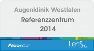 Augenklinik Westfalen - Alcon Referenzzentrum LensX 2014