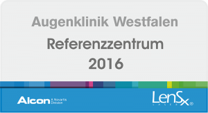 Augenklinik Westfalen - Alcon Referenzzentrum LensX 2016