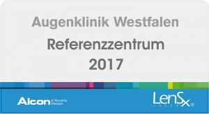 Augenklinik Westfalen - Alcon Referenzzentrum LensX 2017