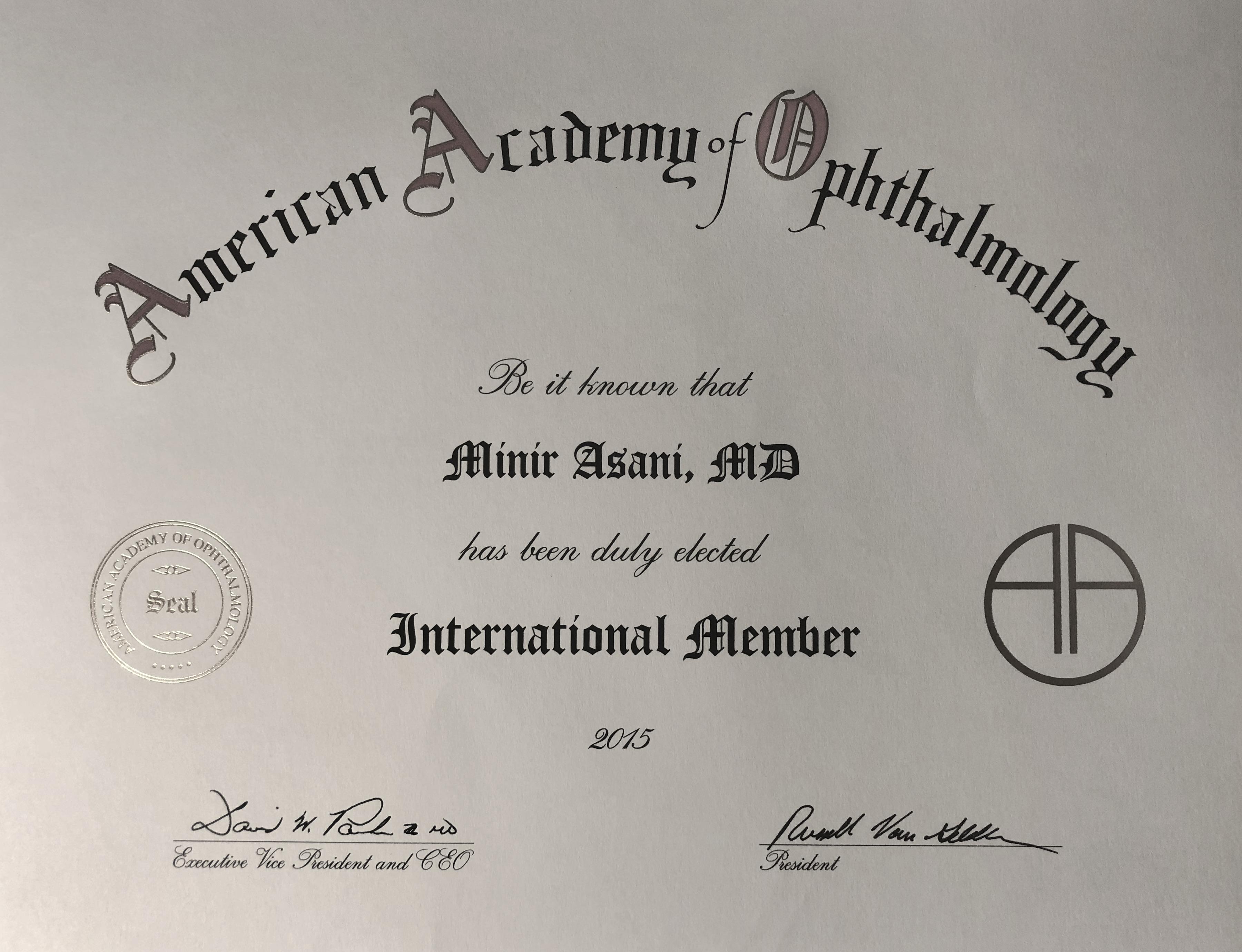 AAO-Zertifikat