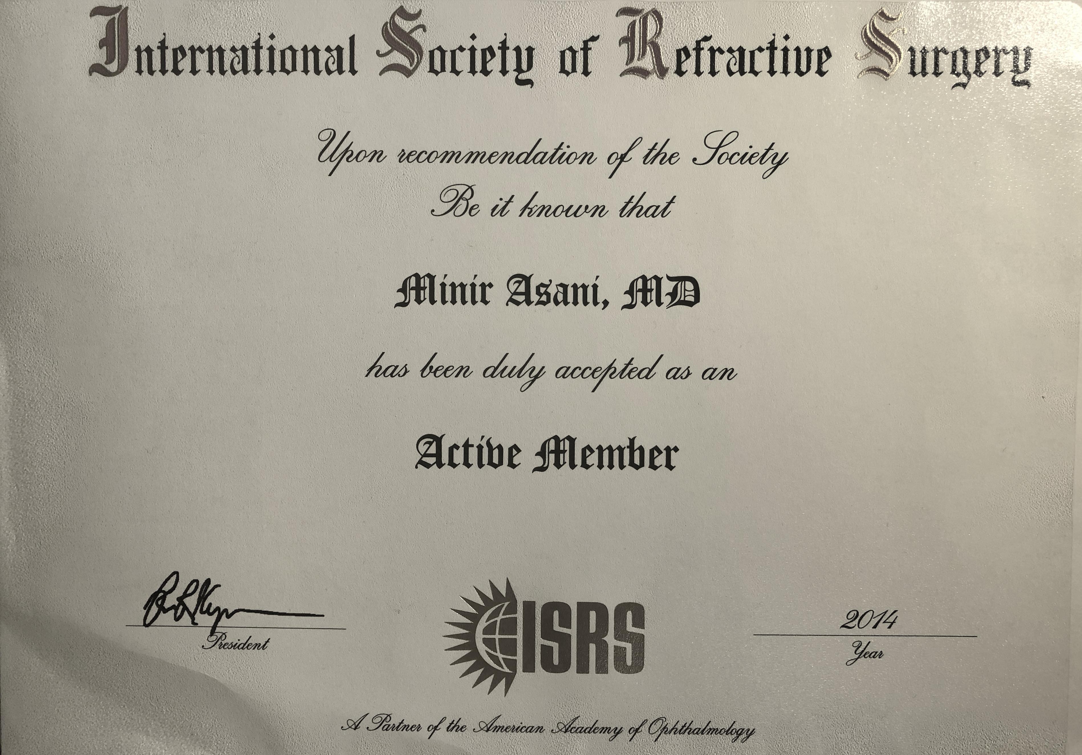 ISRS-Zertifikat